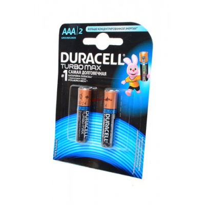 Элемент питания DURACELL TURBO MAX LR03 BL2