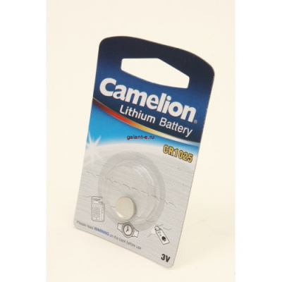 Элемент питания Camelion CR1025-BP1 CR1025 BL1