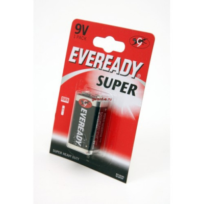 Элемент питания EVEREADY Super Heavy Duty 6F22 BL1